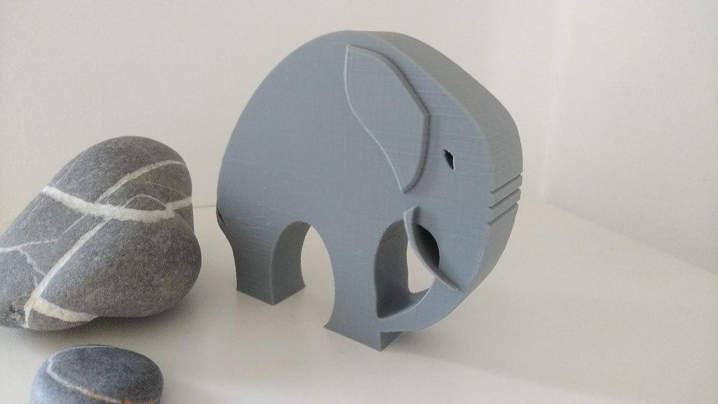 a179e435293ab7446a50213a1b391c6f_display_large.jpg Télécharger fichier STL gratuit Élégant éléphant • Objet pour imprimante 3D, 3DME