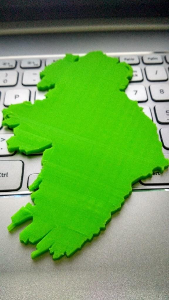 adf565b0e6f8f413648ab33e2b52f7be_display_large.jpg Download free STL file Ireland Map • 3D printer model, 3DME