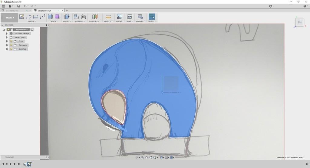 3a51b764a047ba83514ec8071bac24db_display_large.jpg Télécharger fichier STL gratuit Élégant éléphant • Objet pour imprimante 3D, 3DME