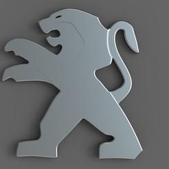 untitled.43.jpg Télécharger fichier STL gratuit logo peugeot • Plan imprimable en 3D, madarocsi