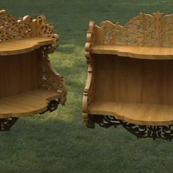 untitled.204.jpg Download STL file patterned shelf for cnc • 3D printable design, madarocsi