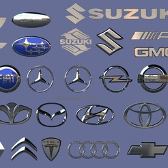 untitled.590.jpg Download STL file 27 car logo • 3D printing template, madarocsi