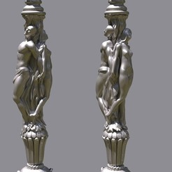 untitled.70.jpg Download STL file Men and Woman column • Object to 3D print, madarocsi