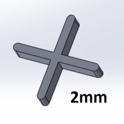 Download free 3D model 2mm crosspiece, Next3DCreations