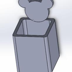 Imprimir en 3D Florero Mickey/Panda, Next3DCreations