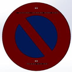 stationnement interdit.png Télécharger fichier STL Panneau Stationnement Interdit • Design pour impression 3D, Next3DCreations