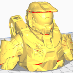 Descargar modelos 3D Busto Espartano 117 ( Halo 4), Next3DCreations