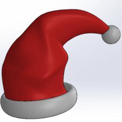 bonnet noel.png Télécharger fichier STL Chapeau Papa Noel • Design à imprimer en 3D, Next3DCreations