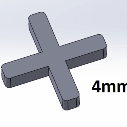 Descargar archivo 3D gratis Barra transversal de azulejos 4mm, Next3DCreations