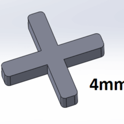 Download free 3D printing designs Tile crossbar 4mm, Next3DCreations