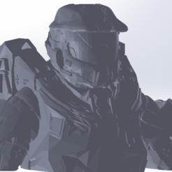 Télécharger STL Buste Spartan 117 ( Halo 4), Next3DCreations