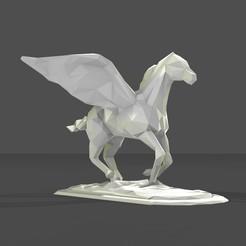 Descargar modelos 3D para imprimir caballo bajo poly, formforge
