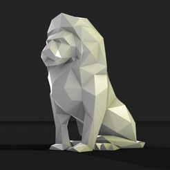STL files low poly lion, formforge