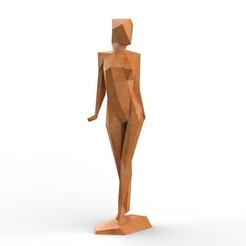 Download 3D printing files Low Poly Abstract Girl Figure , formforge