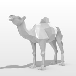 1.jpg Download 3DS file Camel Low pOLY • 3D printable design, formforge