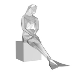 Download STL files mermaid thinking, formforge