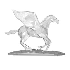 Download 3D model Pegasus low poly, formforge