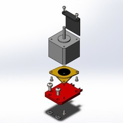 Free 3D printer designs SILENT SUPPORT FOR Z-AXIS BLOCK AND MOTOR INSULATOR, matthias27