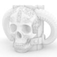 calavera.png Download free STL file Viking Glass • Template to 3D print, maxwar91