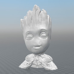 Download STL files Love Baby Groot, maxwar91