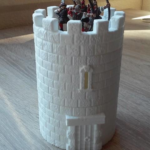 20181009_112110.jpg Download STL file Modular Watchtower - WarGames - Scenary - 3D Printable kit • 3D printable model, SergioGE