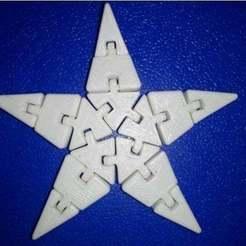 Impresiones 3D llavero modelo estrella articulado, Efe_aydin34