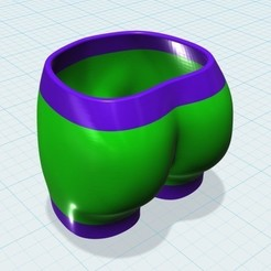 3d model Bootie Shot™ Glass - Two Color, BOOTIEBABE