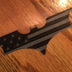 3d print files Batarang with American Flag, nate_prints