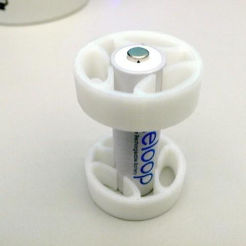Descargar Modelos 3D para imprimir gratis Adaptadores de batería AA, TeamTeamUSA
