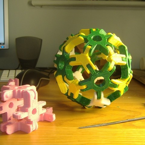 Download free 3D printing files Mini snap-together polyhedron verticies, LenaNovelty