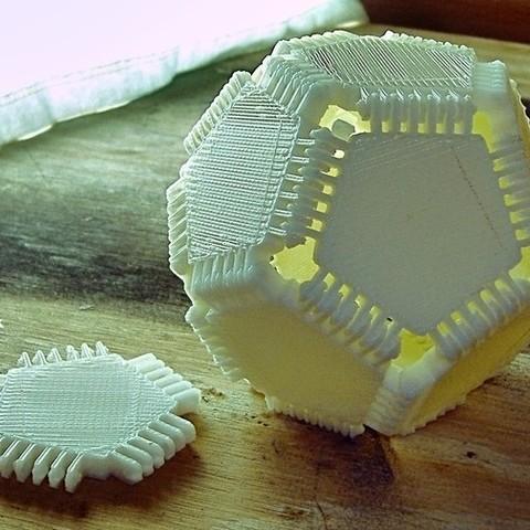 Descargar modelo 3D gratis Bisagra simétrica Elementos poligonales, LenaNovelty