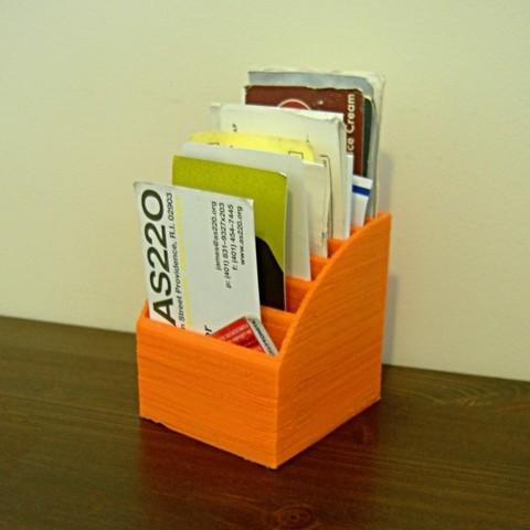 Free 3d Printer Designs Business Card Organizer Cults