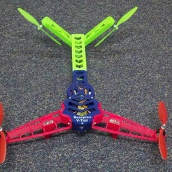 Free 3D model Sorpion V-Tail Quadcopter new lighter parts., Estebandelgado45