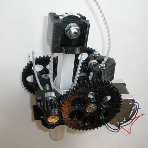 Imprimir en 3D gratis extrusora universal paramétrica de jeringa de 20 ml para trabajo pesado, Estebandelgado45