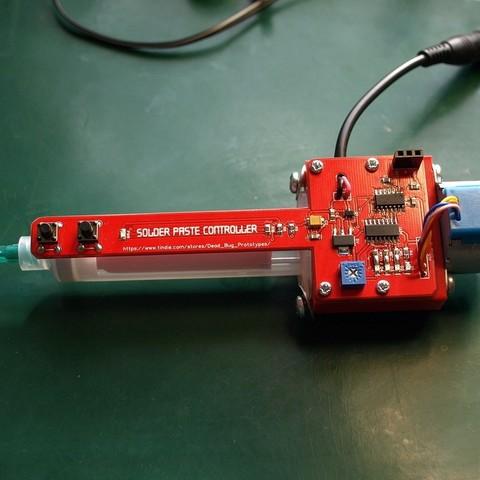 Download free 3D printing designs Solder paste dispenser - 3D parts, Estebandelgado45