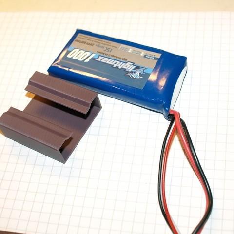 Télécharger fichier STL gratuit Porte-piles LiPo, Estebandelgado45