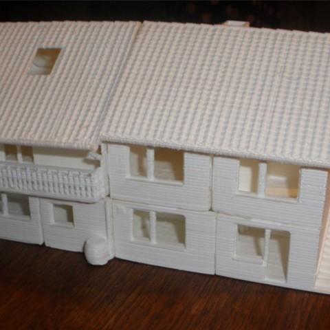 Free STL file miniature version of a real existing house, Estebandelgado45