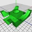 Download free 3D printing templates Caster wheel boot pad, PortoCruz675