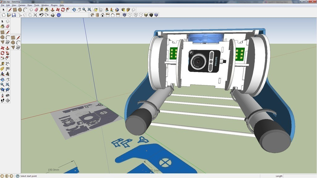 sketchup_example_display_large.jpg Download free STL file OpenROV Underwater Robot • 3D printable design, PortoCruz675