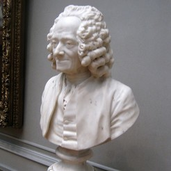 Download free 3D printer designs Voltaire, by Jean-Antoine Houdon, PortoCruz675