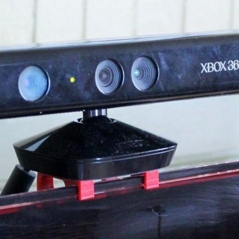 IMG_7490_display_large.jpg Download free STL file Samsung top mount TV bracket for XBOX 360 Kinect • 3D printer model, PortoCruz675