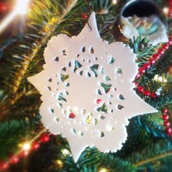 Download free 3D printer templates Gothic Snowflakes, PortoCruz675
