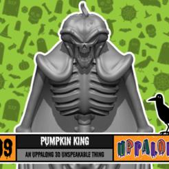 thingiverseCoverArt_Halloween_pumpkinKing.png Download free STL file Pumpkin King • 3D print design, uppalong