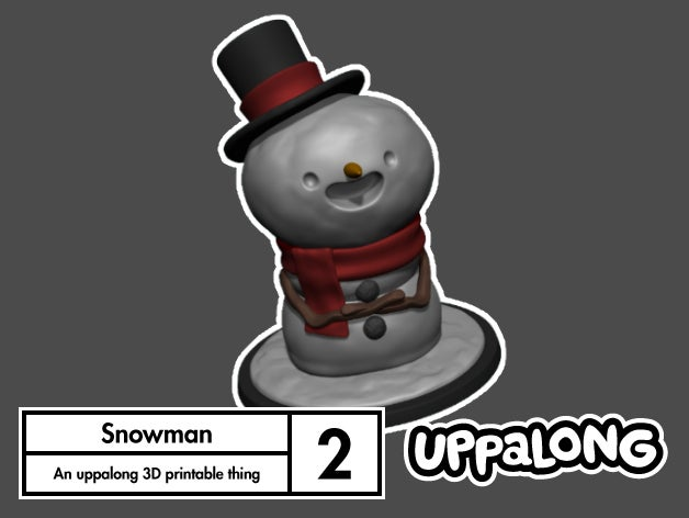 e0b3b8b8694e325a88bfe2d281a00eb2_display_large.jpg Download free STL file Snowman Decoration and Ornament • 3D print template, uppalong
