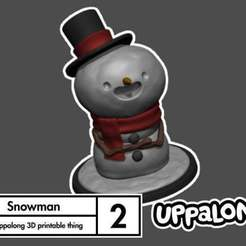 Download free 3D model Snowman Decoration and Ornament, uppalong