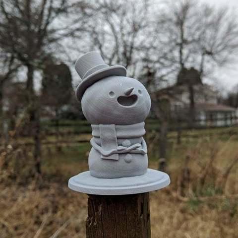 0d74e4aa9487676ba43ef453a0300b6b_display_large.jpg Download free STL file Snowman Decoration and Ornament • 3D print template, uppalong