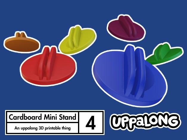 d757c4e50cddc33a0105b9a2af397629_display_large.jpg Download free STL file Cardboard Mini Clip Stands • Model to 3D print, uppalong