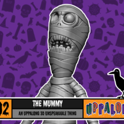 Download free STL file The Mummy • Template to 3D print, uppalong