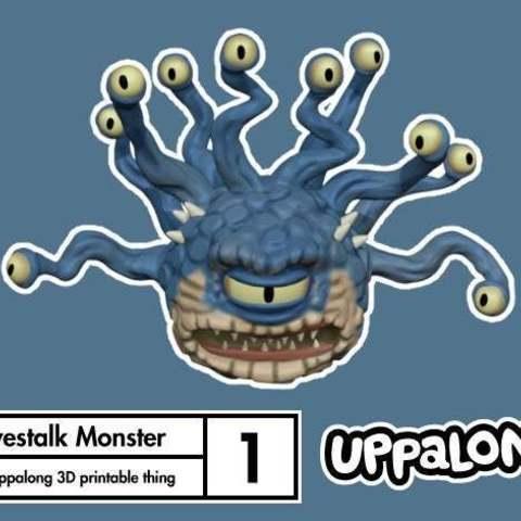 Impresiones 3D gratis Monstruo Eyestalk, uppalong