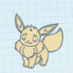 Sin título.png Download free STL file Eevee keychain • 3D printer design, NelsonRB